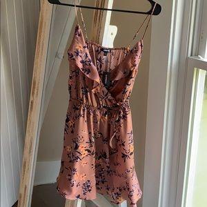 Express pink ruffle dress